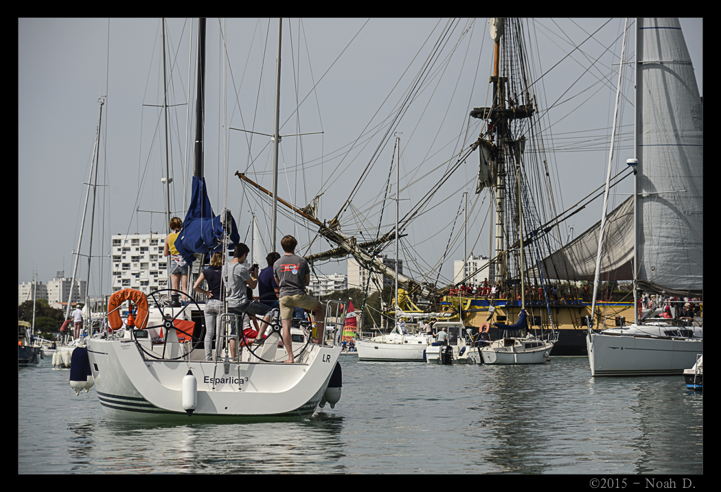 The departure of l'Hermione…