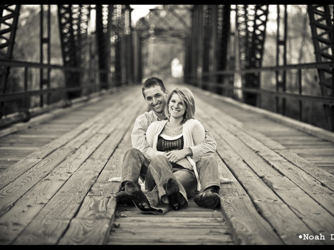 Engaged on both sides of the bridge…