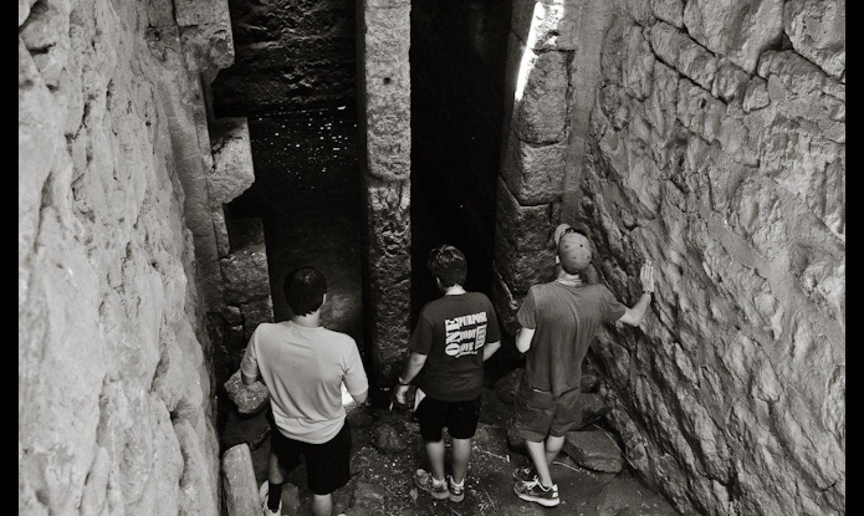 Below ground above Corinth…