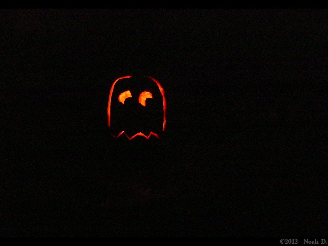 Late carving pumpkins…