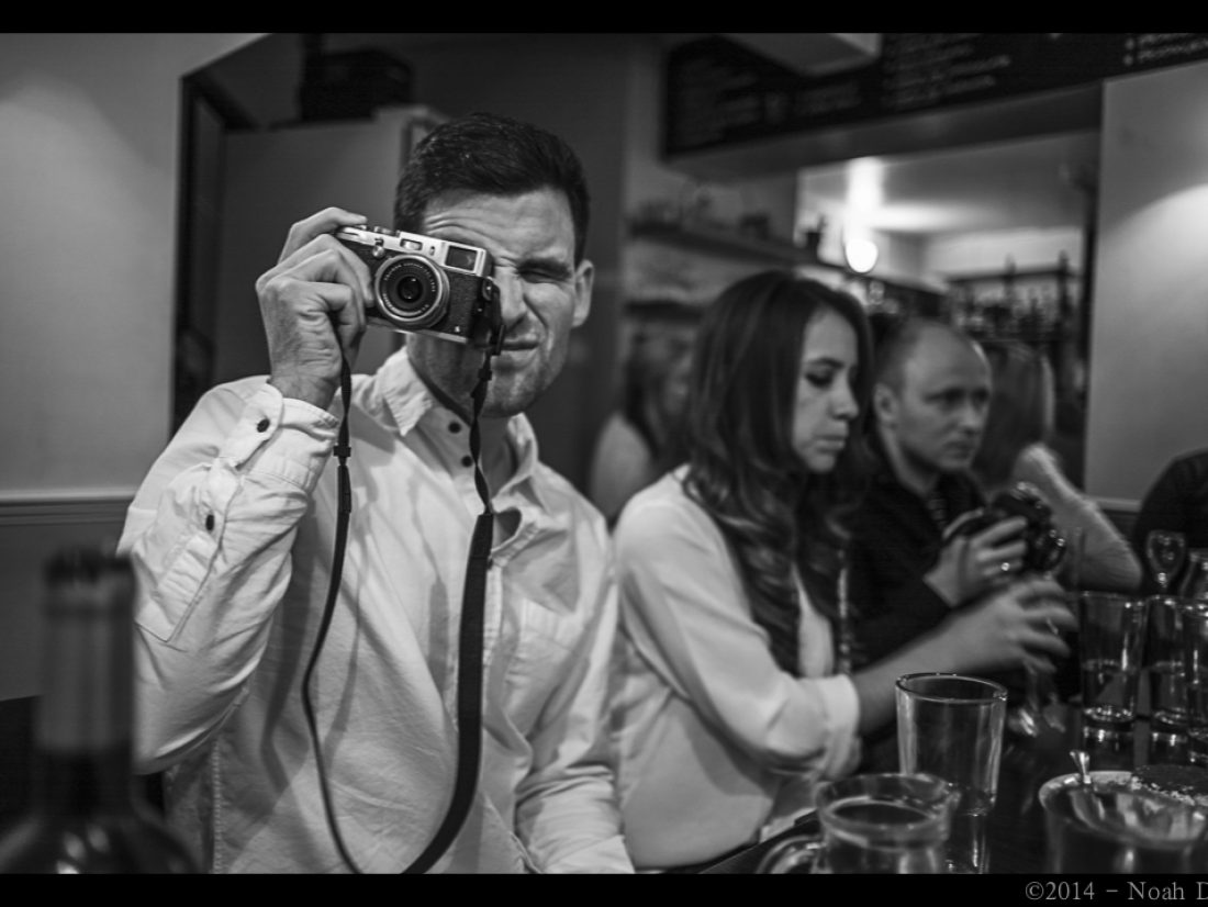 Photographers at dinner…
