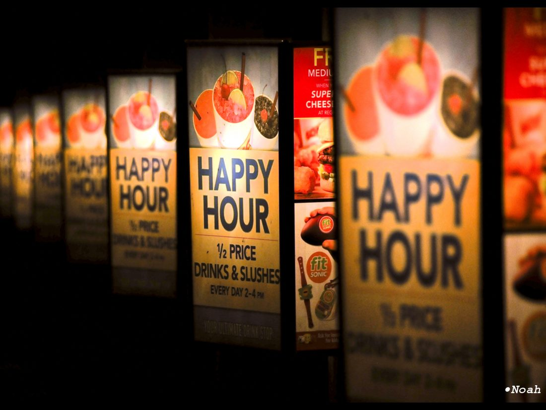 After hours happy hour…