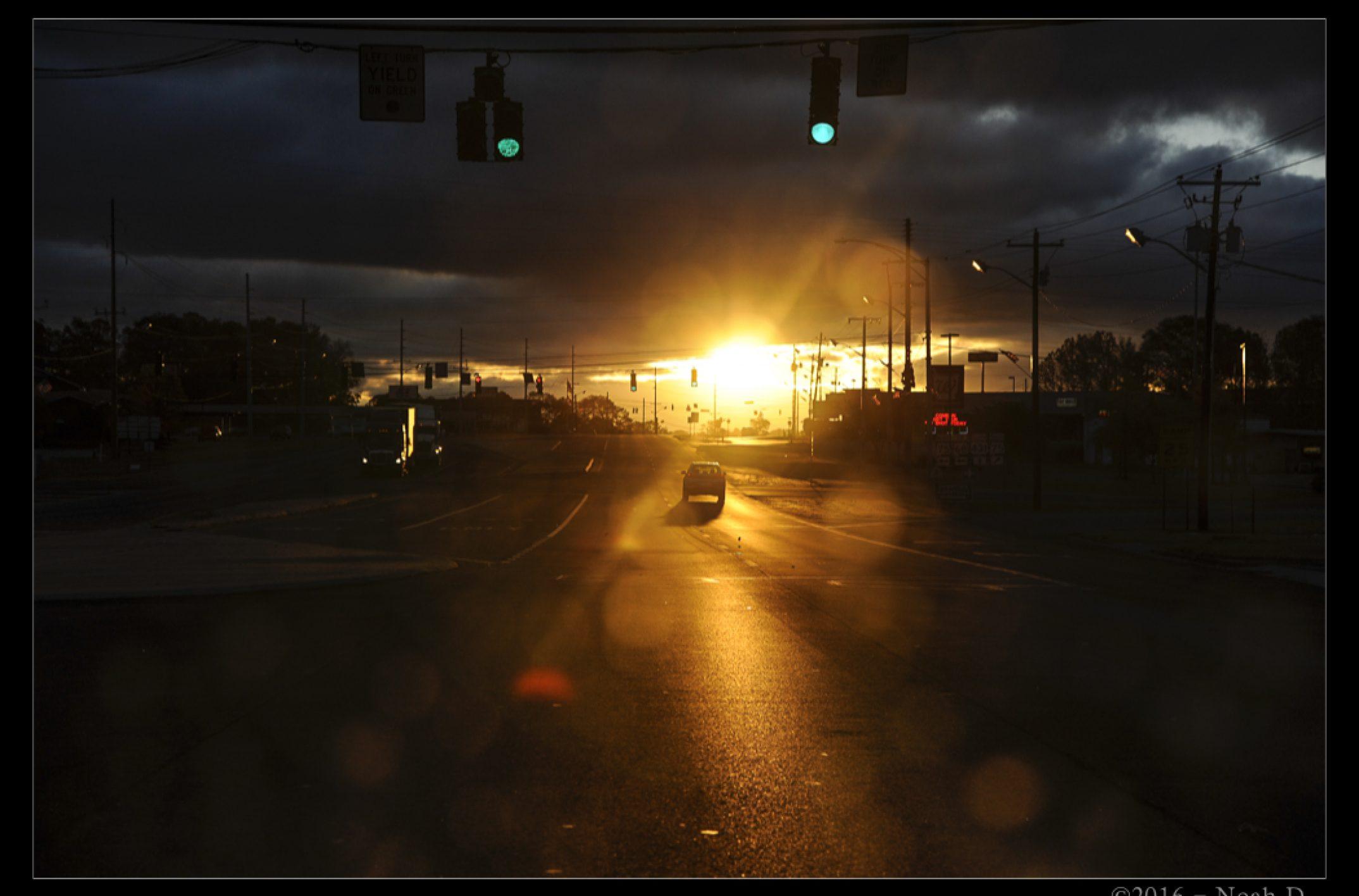 Three views of a similar road…